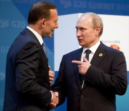 Putin and Abbott G20 Brisbane