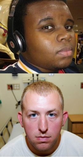 Michael Brown and Darren Wilson